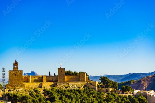 Carta da parati The Alcazaba fortress in Antequera, Spain.