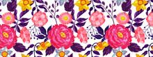 Colorful Floral Patterns ,transparent Background.