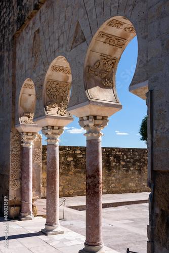 archs and columns in medina. view of the ancient ruin of medina azhara close to cordoba, spain © marinzolich