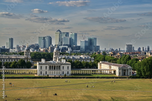 panorama of the city london city greenwich Fotobehang