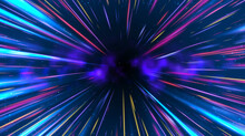 Vector Abstract Circular Geometric Background. Circular Geometric Centric Motion Pattern. Starburst Dynamic Lines Or Rays