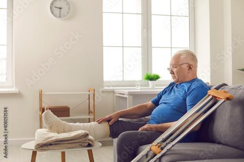 Slika na platnu Rehabilitation after injury in domestic or car accident