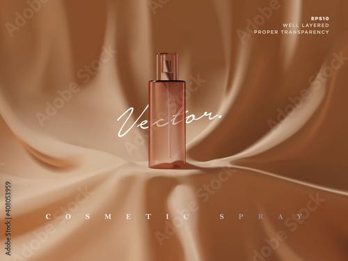 Realistic transparent cosmetic spray bottle ads scene illustration Fototapete