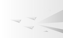 Wallpaper White Polygonal Graphic Background.Abstract Paper Plane Shape Of Businees Texture.