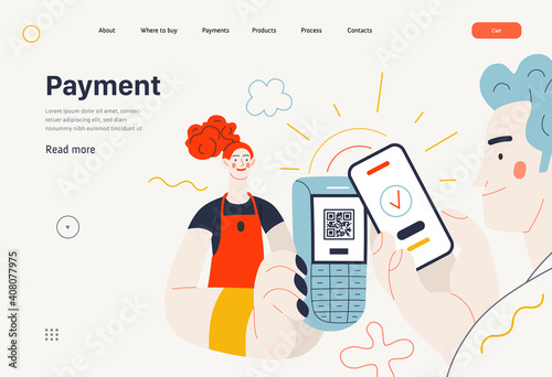Business topics -payment, web template, header Fototapeta