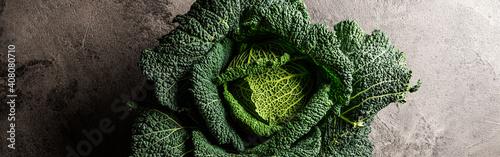 Cuadros en Lienzo Savoy cabbage close up. Healthy cabbage. Vegetarian diet.