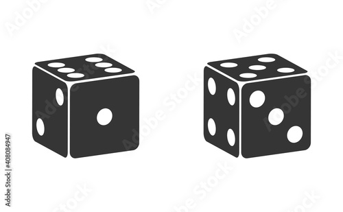 Dice six side face icon Fototapete