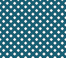 Vector Pattern. Abstract Geometric Background. Blue And White Tablecloth Pattern, Texture From Rhombussquares For - Plaid, Tablecloths, Clothes, Shirts, Dresses, Paper, Blankets And Other Textile Pro