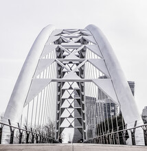 Low Angle Shot Of The Humber Bay Bridge In Toronto, Canada