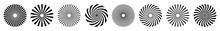 Sunburst Element. Radial Stripes, Starburst, Collection Of Ray,  Vector Icon Illustration.