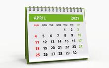 Standing Desk Calendar April 2021