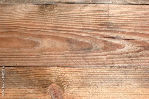 Fotografía Tavole di legno grezzo con venature in primo piano.