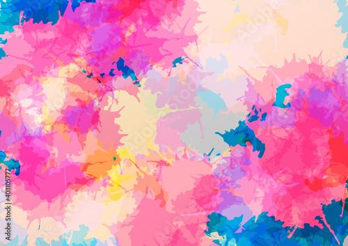 Fototapeta Abstract vector splatter color modern design background