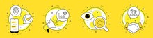 Sun Energy, Coronavirus Statistics And Coronavirus Pills Line Icons Set. Cell Phone, Megaphone And Deal Vector Icons. Ab Testing Sign. Solar Power, Confirmed Cases Chart, Vaccine. Test Chart. Vector