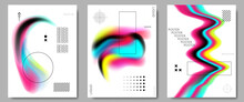 Vector Illustration. Abstract Liquid Colorful Shapes Collection Isolated On White Geometric Background. Modern Art.  Design Elements For Poster, Book Cover, Brochure, Magazine, Flyer, Booklet