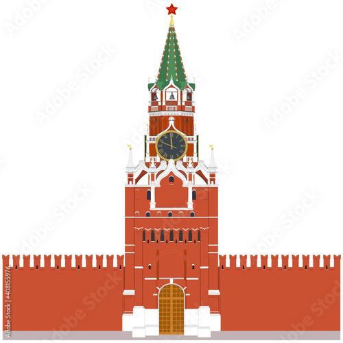 Fotografie, Obraz Moscow Kremlin Tower in Russia