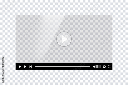 Video player template interface Fototapet
