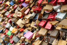 Love Locks At The Hohenzollern Bridge, Cologne, Germany