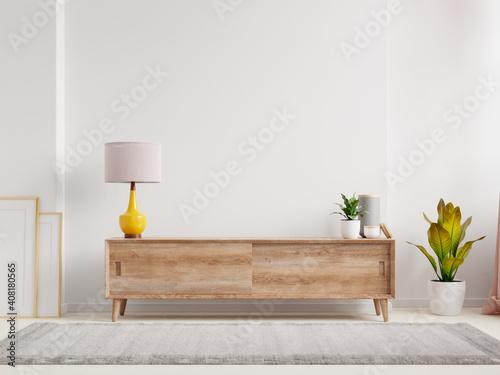 Obraz Shelf in modern empty room,minimal design. - fototapety do salonu