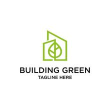 Eco Building Tower Vector Logo Design Template