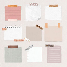 Cute Note Paper Template Vector