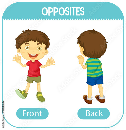 Opposite words with front and back #408203519