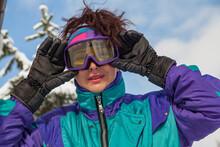 Portrait Of Girl In Ski Goggles