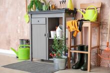 Different Gardening Supplies In Barn