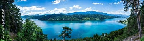 MIllstätte See bei Sonnenschein im Sommer Fototapeta