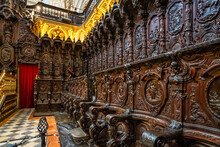 Amazing Choir In The Mezquita Cathedral Of Cordoba. Andalusia, Spain