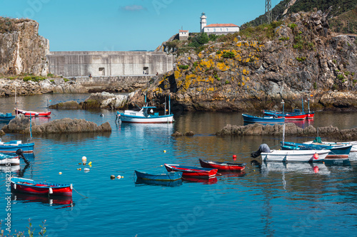 Photograph of some boats taken in Cudillero, a typical coastal town that is a must on vacation in Asturias.
