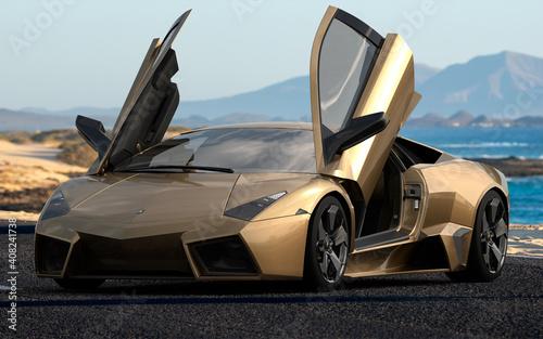 The legendary Lamborghini Reventon on the road