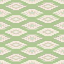 Marakesh Green Diamond Vector Seamless Pattern