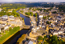 Top View Of The City Of Lannion. Brittany. France
