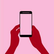 Minimalistische Smartphone Grafik