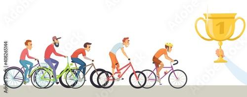 Obraz na plátně Diverse man competition