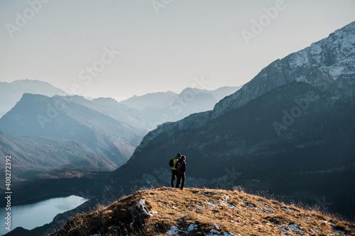 Foto mountain landscape in the Cima Tosa area, near Molveno and Andalo