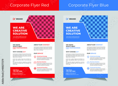 Fototapety, obrazy: Corporate flyer template vector design, cover modern layout, corporate banners, IT Company flyer, Business Flyer set