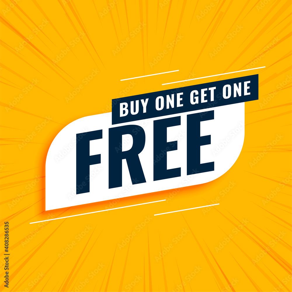 Fototapeta buy one get one free sale yellow background