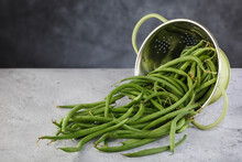 Green Beans On Table.