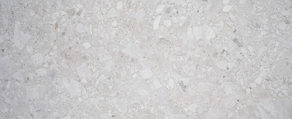 White gray bright grunge polished natural stone tiles / terrace slabs / granite marble marbled concrete texture background banner panorama