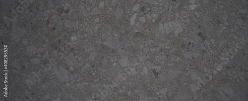 Fototapeta Dark black anthracite gray grunge polished natural stone tiles / terrace slabs / granite concrete marbled marble texture background banner panorama obraz