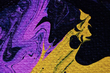 Purple And Yellow Abstract Art Background Or Texture