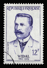 Stamp Printed In The France Shows Widal Fernand (1862-1929), Circa 1958