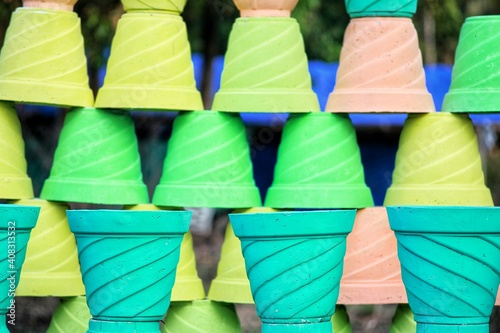 Fototapety, obrazy: Colored pots