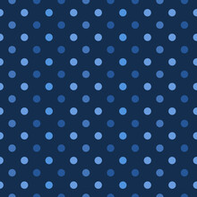 This Is A Seamless Pattern Of Polka Dots On A Blue Background.