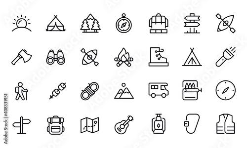 Obraz Camping Icons vector design  - fototapety do salonu