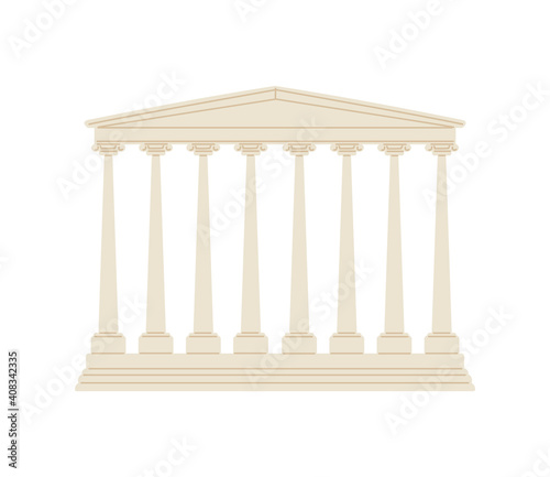Slika na platnu Classical architecture of the empire of ancient rome a vector illustration