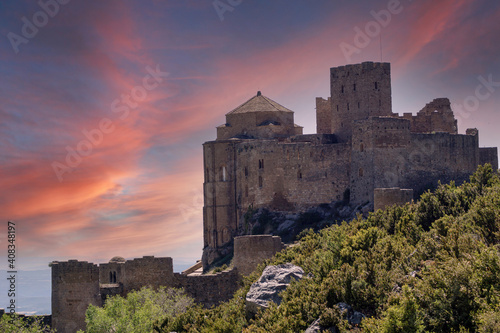Castillo de Loarre is a Romanesque medieval defensive Romanesque fortification H Wallpaper Mural
