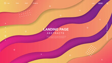 Abstract Modern Graphic Element. Colorful Geometric Background. Dynamically Colored Shapes And Waves. Liquid  Composition Forms. Gradient Abstract Banner With Flowing Liquid Shapes. Vector Illustratio